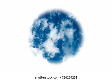 abstract isolate planet with clouds and sea