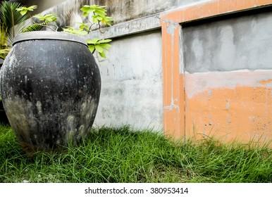 abstract jar,Green Grass
