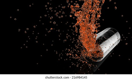 abstract juice background with water splash isolated