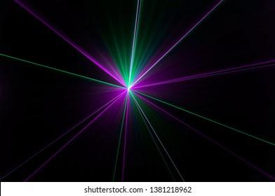 Abstract Laser Light Beam Effect