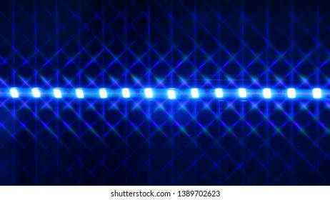 Abstract LED lighting blue colour