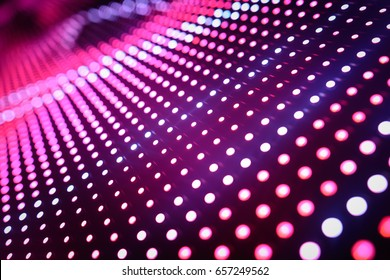 Abstract Led wall with graduated focus