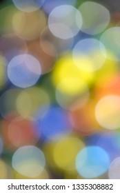 Abstract lens bokeh background in studio