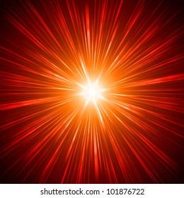 abstract lens flare light over dark background