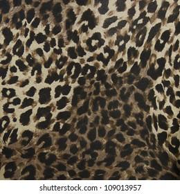 Safari Animal Leopard Brown Spotted Pattern Soft Velvet Fur Upholstery Fabric