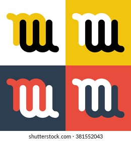 Abstract letters M and C logo template. Letters M and C icon. Business logo template. MC logo. MC icon. Combination MC