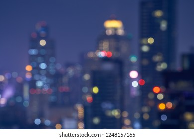 abstract lighr of bokeh cityscape background