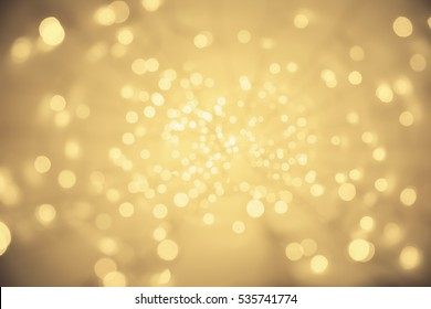 Abstract Light Background, Vanishing Point Perspective, Blurred Lighting Particles Sparkles
