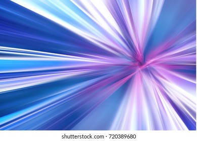 Abstract light blue and purple speed digital space warp technology background.