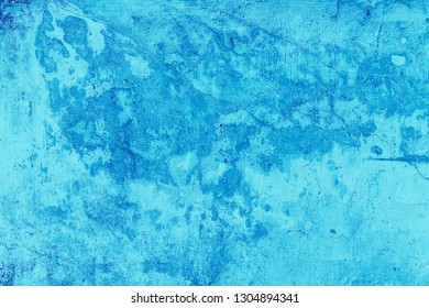 Abstract light blue wall plastered texture. Rustic background