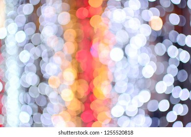 Abstract light bokeh  background for business card and holiday background. can used for Happy New Year and Christmas card. copy space for text. Hot and cold tone.