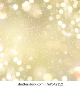 Abstract Light Bokeh Background. Winter holidays background.