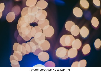 abstract light bokeh background,circular facula and beautiful wallpaper.