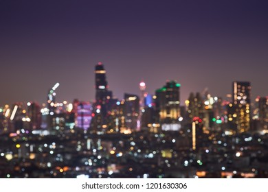 abstract light cityscape bokeh background for backdrop