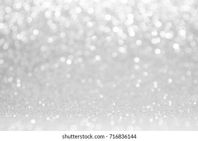 Abstract light grey ,sliver color de focused circular background. Night light or season greeting background.Luxury backdrop image.