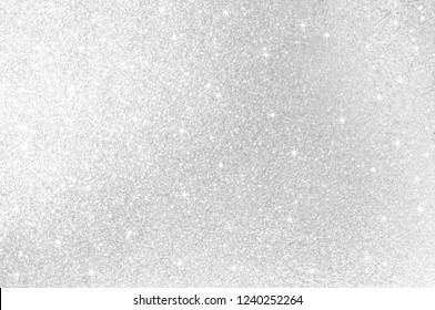 Abstract light grey,sliver color de focused circular background.Night light with star season greeting elegance backdrop or artwork design for new year,christmas sparkling glittering  or special day.
