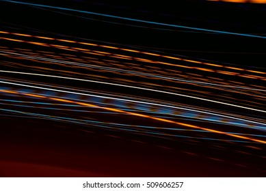 Abstract light lines . Abstract glowing colorful lines