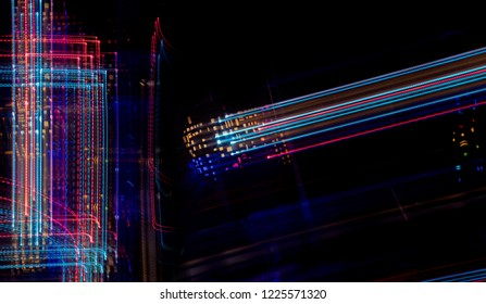 abstract light painting brilliant moving leds