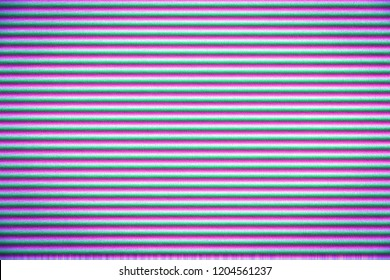 Abstract light purple background with horizontal lines. Background for design and typography. Glitch effect. Vignette effect.