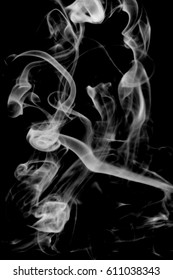 Abstract light smoke on a dark background