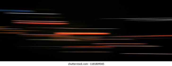 Abstract light trails in the dark