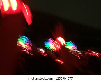 Abstract light when people movement and enjoying in concert or party. Colorful light abstract.