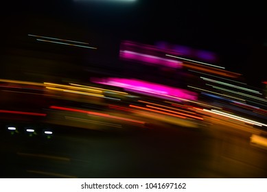 Abstract lighting transport with low speed shutter