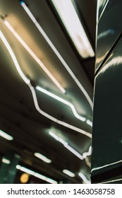 abstract lights in a swedish trainstation