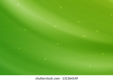 Abstract line background - green color