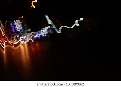 abstract lines of lights taken with a slow motion Camera