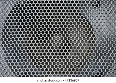 Abstract loud speaker aluminum grill texture