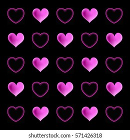 Abstract love pattern of hearts