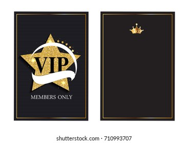 Abstract Luxury VIP Members Only Invitation Background  Illustration