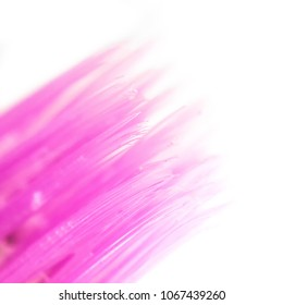 Abstract macro image of a toothbrush bristles