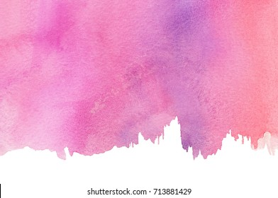 Abstract Magenta Watercolor Background