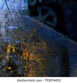 abstract mechanical grunge background