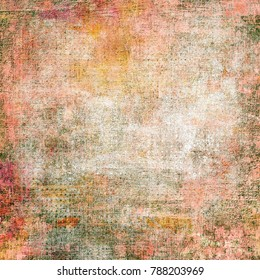 Abstract Messy Painted Antique Texture.Colorful Seamless Grunge Pattern.  Modern Futuristic Wall Backdrop For Background