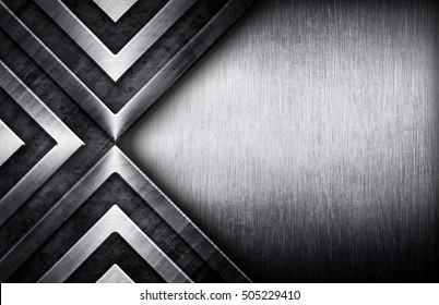 abstract metal with grunge background