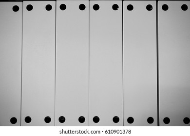 abstract of metal line powder coating in white for background used