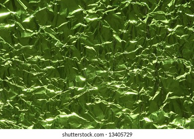 Abstract metallic background of green color
