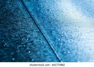 Abstract metallic blue background with stripes