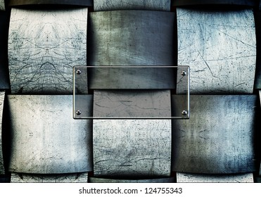 Abstract metallic  vintage background with glass plate to ad your stuff