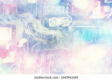 abstract microelectronics background / modern technology concept industry background development