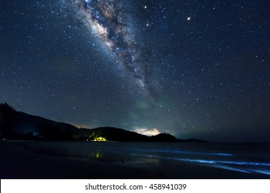 abstract milkyway galaxy and starry stars.