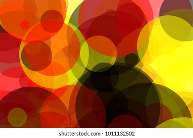 Abstract minimalist yellow red black illustration with circles useful as a background, in colours of the German flag