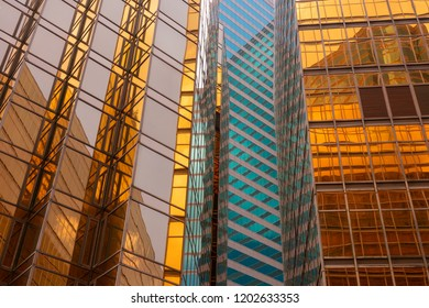Abstract mirror building texture