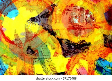 Abstract Mixed Media Background Painting