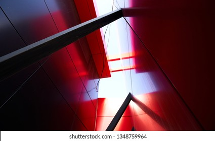 Abstract modern architecture background design. Urban geometric structure