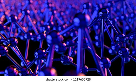 Abstract modern background in empty space. Futuristic neon shape. Technology network concept. 3d rende