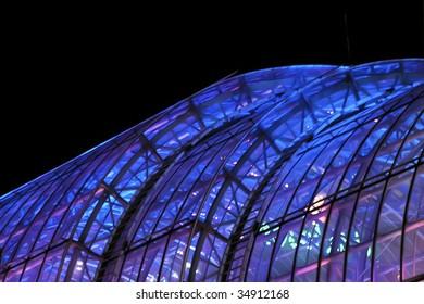 Abstract modern construction at night